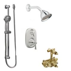 Moen - Kingsley Vertical Spa Moentrol Multi-function Shower Head & Hand Shower Valve Complete Package