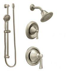 Moen - Wynford Vertical Spa Posi-Temp Shower Head/Hand Shower Combo Set - Trim Only