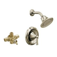 Moen - Wynford Posi-Temp Shower Only with IPS Valve w/ quarter turn stops