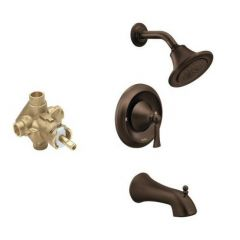 Moen - Wynford Posi-Temp Eco-Perf Tub & Shower Combo with CC Valve