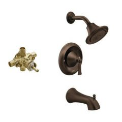 Moen - Wynford Posi-Temp Eco-Perf Tub & Shower Combo with CC Valve w/stops
