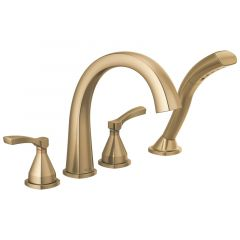 Delta - Stryke Four Hole Roman Tub Trim with Lever Handles and Hand Shower