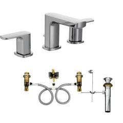 Moen - Rizon Series Bathroom Faucet Trim And Valve Kit Two - Handle Low Arc