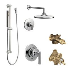 Moen - Arris Vertical Spa Posi-Temp Shower Head/Hand Shower Combo w/Valves