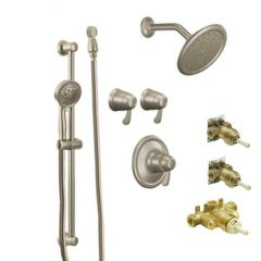 Moen - Premium - Vertical Spa Trim + Rough - In Valve Combo Package ExactTemp 3/4in Thermostatic - Vertical Spa