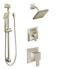 Moen - 90 Degree Vertical Spa Posi-Temp Shower Head/Hand Shower Combo - Trim Only