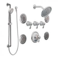 Moen - Premium ExactTemp Series Thermostatic - Vertical Spa Flush mound Body Sprays - 3/4in
