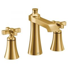Moen - Flara Two-Handle Widespread High Arc Bathroom Faucet with Cross Handles