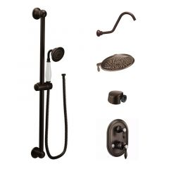 Moen - Weymouth Vertical Spa with Hand Held and 8-Inch Rainshower Shower Head Kit - Trim Only