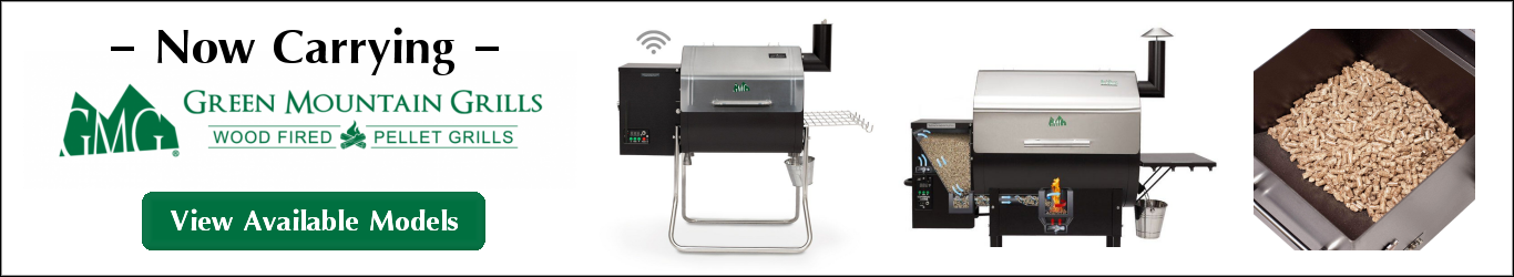 Now Carrying Green Mountain Grills - Wood Fired Pellet Grills - View Available Models
