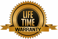 Life Time Warranty badge